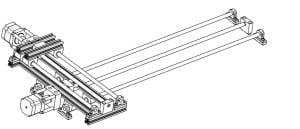 Darstellung x-y Achse für eine CNC Anwendung