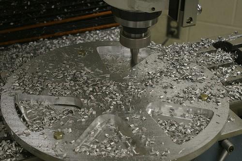 Fräsen eines Aluminiumrads
