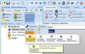 CAM Simulation horizontal roughing