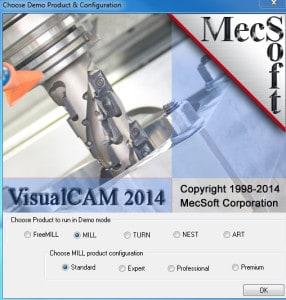 Menü von Visualcam 2014