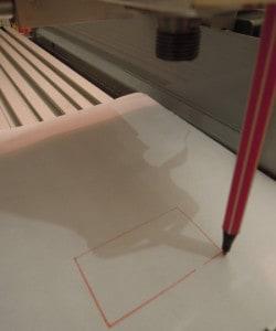 CNC Schreiben mit Stift