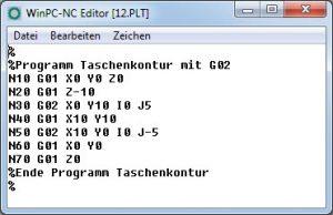G-Code Programm