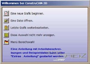 """Klicke auf """"Neue Grafik Beginnen"""""""