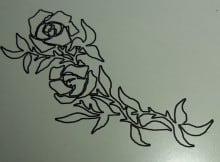Gravur einer Rose