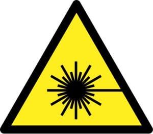 Laserstrahlung Warnschild