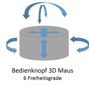 3D Maus Bedienknopf - Freiheitsgrade