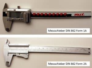 Messschieber DIN 862 Form 1A & Form 2A