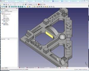 FreeCAD 3D Modell eines Winkels