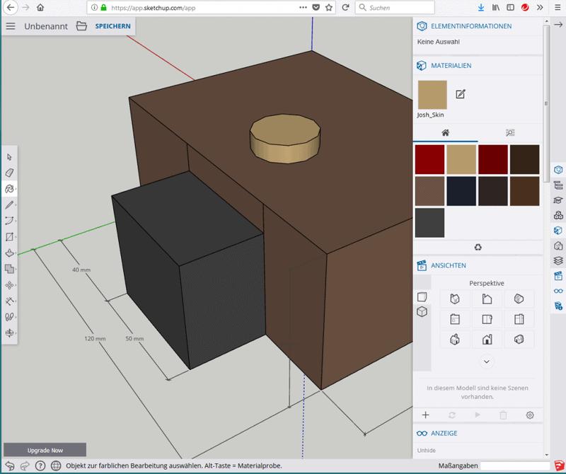SketchUp - 3D (Materialien zuweisen)