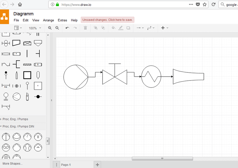 Create technical sketches with Draw.io