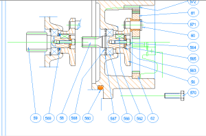 TurboCAD - Zusammenbauzeichnung