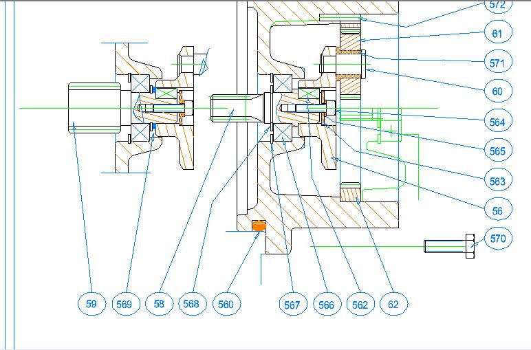 Zeichenprogramm TurboCAD - Zusammenbauzeichnung
