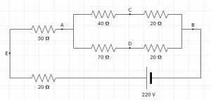 Diagramm eines elektrischen Stromkreis