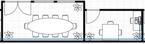 Darstellung eines Bürogrundriss in Diagrams.net