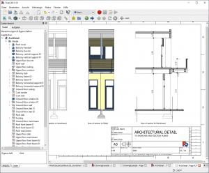Architektur Zeichnung im Programm FreeCAD gezeigt