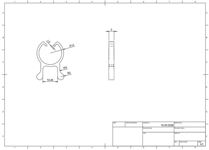 Einfache Zeichnung erstellt in Fusion 360