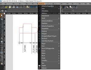TurboCAD 2D Zeichenfunktionen